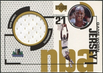 1998/99 Upper Deck Game Jerseys #GJ13 Kevin Garnett