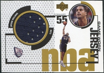 1998/99 Upper Deck Game Jerseys #GJ14 Jayson Williams Navy