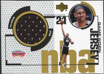 1998/99 Upper Deck Game Jerseys #GJ15 Tim Duncan