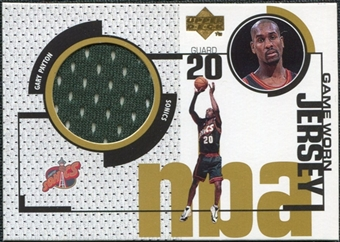 1998/99 Upper Deck Game Jerseys #GJ16 Gary Payton