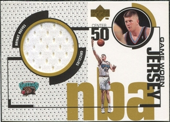 1998/99 Upper Deck Game Jerseys #GJ18 Bryant Reeves
