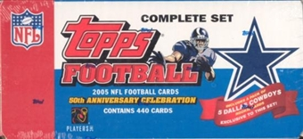 2005 Topps Factory Team Set Football (Box) Dallas Cowboys
