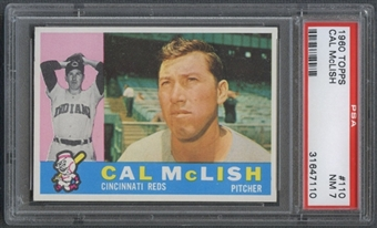 1960 Topps Baseball #110 Cal McLish PSA 7 (NM) *7110