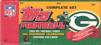 2005 Topps Factory Team Set Football (Box) Green Bay Packers