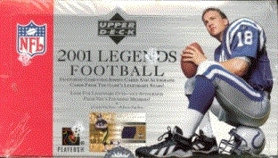 2001 Upper Deck Legends Football Hobby Box