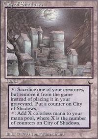 Magic the Gathering Dark Single City of Shadows - SLIGHT PLAY (SP)