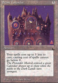 Magic the Gathering Dark Single Stone Calendar - NEAR MINT (NM)