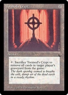 Magic the Gathering Dark Single Tormod's Crypt - SLIGHT PLAY (SP)
