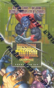 Marvel Over Power Mission Control Booster Box (Fleer)
