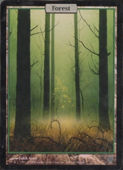 Magic the Gathering Unhinged Single Forest FOIL