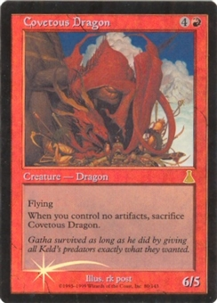 Magic the Gathering Urza's Destiny Single Covetous Dragon FOIL - NEAR MINT (NM)