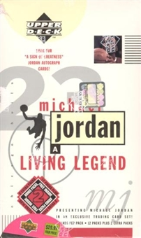 1998/99 Upper Deck Michael Jordan Living Legend Basketball Blaster Box