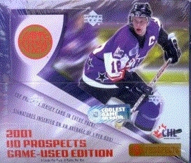 2001/02 Upper Deck CHL Game Used Edition Hockey Box