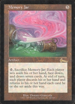 Magic the Gathering Urza's Legacy Single Memory Jar - SLIGHT PLAY (SP)