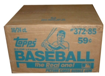 1985 Topps Baseball Cello 16-Box Case