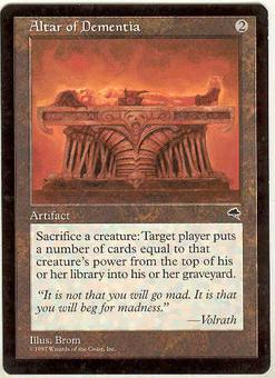 Magic the Gathering Tempest Single Altar of Dementia - SLIGHT PLAY (SP)
