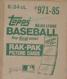 1985 Topps Baseball Rack 6-Box Case