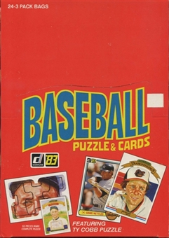 1983 Donruss Baseball Wax Rack Box (Gwynn,Sandberg,Boggs Rookie!)