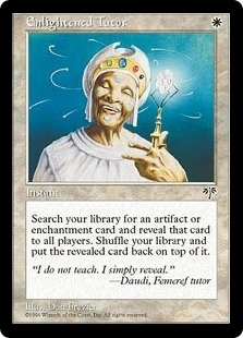 Magic the Gathering Mirage Single Enlightened Tutor UNPLAYED (NM/MT)