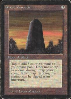 Magic the Gathering Beta Single Basalt Monolith - MODERATE PLAY (MP)