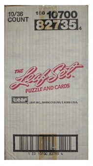 1990 Leaf Series 1 Baseball Hobby 10-Box Case