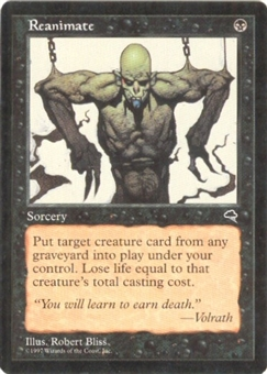 Magic the Gathering Tempest Single Reanimate - NEAR MINT (NM)