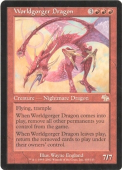 Magic the Gathering Judgment Single Worldgorger Dragon UNPLAYED (NM/MT)