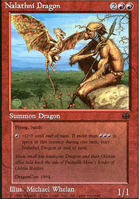 Magic the Gathering Promo Single Nalathni Dragon - SLIGHT PLAY (SP)