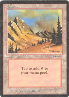 Magic the Gathering Arabian Nights Single Mountain - MODERATE PLAY (MP)