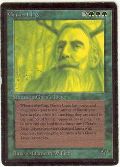 Magic the Gathering Beta Single Gaea's Liege - MODERATE PLAY (MP)