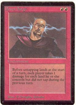 Magic the Gathering Beta Single Power Surge - SLIGHT PLAY (SP)
