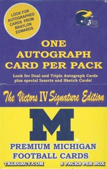 2005 TK Legacy Michigan: The Victors IV Sig Edt Football Hobby Box