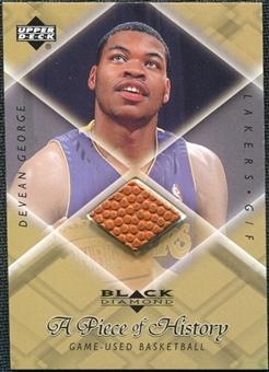 1999/00 Upper Deck Black Diamond A Piece of History #DG Devean George