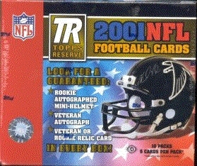 2001 Topps Reserve Football Hobby Box