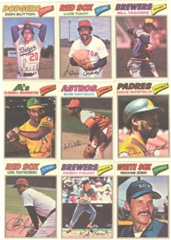 1977 Topps Cloth Stickers Baseball Near Complete Set (EX-MT)