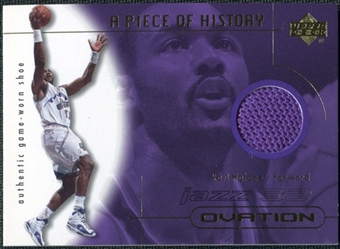 2000/01 Upper Deck Ovation A Piece of History #KMS Karl Malone Shoe