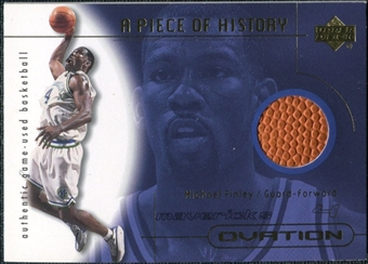 2000/01 Upper Deck Ovation A Piece of History #MFB Michael Finley