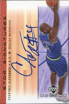2000/01 Upper Deck Encore Star Signatures #CA Courtney Alexander Autograph