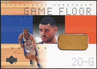 2000/01 Upper Deck Hardcourt Game Floor #ALF Allan Houston