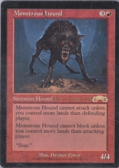 Magic the Gathering Exodus Single Monstrous Hound - NEAR MINT (NM)