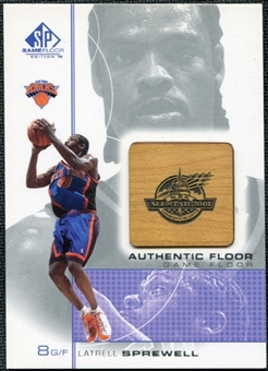 2000/01 Upper Deck SP Game Floor Authentic Floor #LS Latrell Sprewell AS