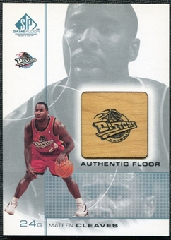 2000/01 Upper Deck SP Game Floor Authentic Floor #MC Mateen Cleaves