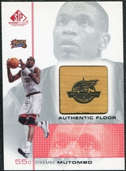 2000/01 Upper Deck SP Game Floor Authentic Floor #MT Dikembe Mutombo