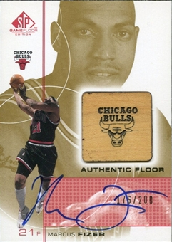 2000/01 Upper Deck SP Game Floor Authentic Floor Autographs #FIA Marcus Fizer /200