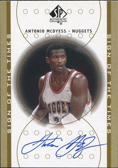 2000/01 Upper Deck SP Authentic Sign of the Times #AM Antonio McDyess