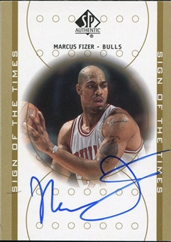 2000/01 Upper Deck SP Authentic Sign of the Times #FI Marcus Fizer