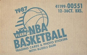 1987/88 Fleer Basketball Wax 12-Box Case