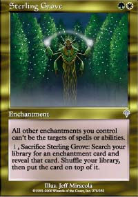 Magic the Gathering Invasion Single Sterling Grove - SLIGHT PLAY (SP)