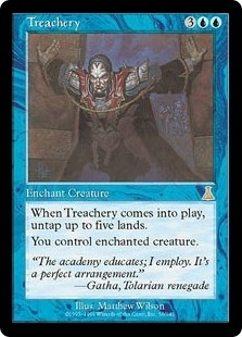 Magic the Gathering Urza's Destiny Single Treachery - SLIGHT PLAY (SP)