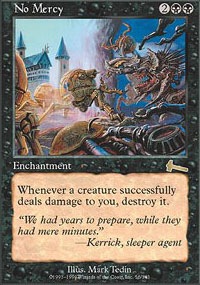 Magic the Gathering Urza's Legacy Single No Mercy UNPLAYED (NM/MT)